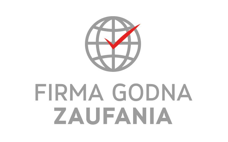 """Firma w 2016 roku otrzymała certyfikat """"FIRMA GODNA ZAUFANIA"""""""